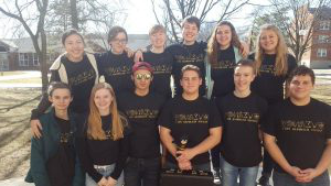 The Science Olympiad team waits for results at Truman State Feb. 18. The team won the competition. Photo 通过 Alaina Appley.