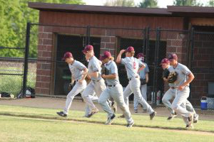 The Mustangs head to the outfield June 18 to face Clear Creek Amana. The Mustangs split the games, winning the first 7-5, and losing the second 2-1.